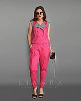 Стильный костюм двойка для современных девушек - Размеры: 58,60,62; РОЗНИЦА +30грн, фото 1