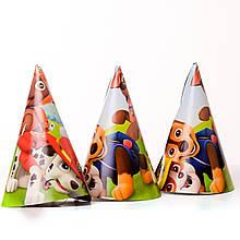 Колпачки праздничные карнавальные щенячий патруль 16 см