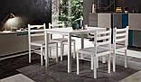 Обеденная мебель AMF Брауни стол+4 стула деревянные белый шоколад латте, фото 10