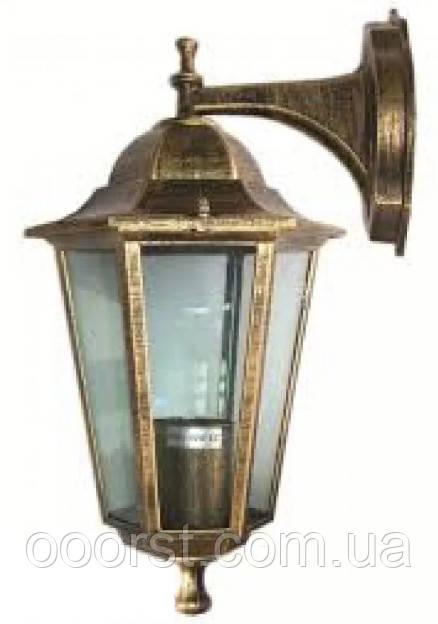 Уличный настенный светильник Lemanso PL6102 античное золото(бронза)