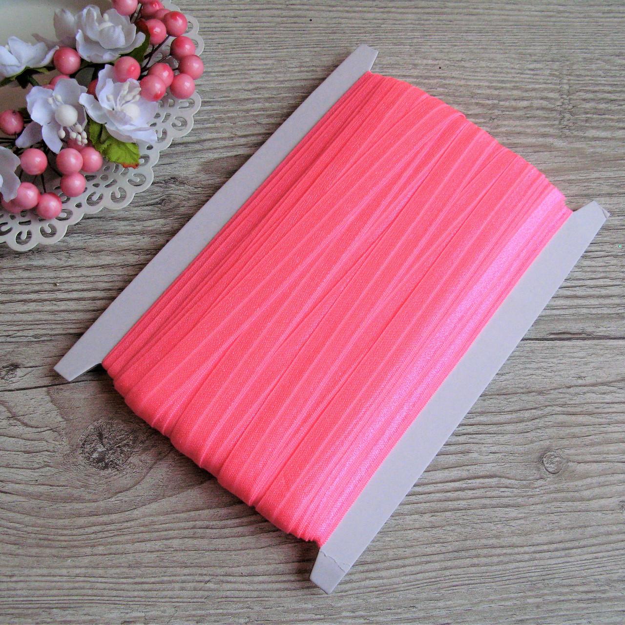Бейка - резинка (лента-стрейч). Цвет ярко розовый 1.5 см