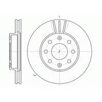 Передний тормозной диск на CHEVROLET AVEO R13, пр-во Ferodo DDF1279