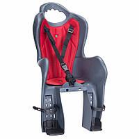 Кресло (велокресло) детское HTP Design Elibas P, на багажник, темно-серое