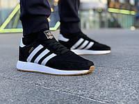 Adidas iniki мужские кроссовки чёрные, адидас иники мужские чёрные, размеры 42-46