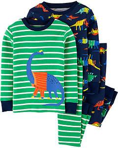 Комплект бавовняних піжам Динозаврик з 4-х частин