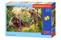 Пазлы  Битва динозавров , 180 элементов