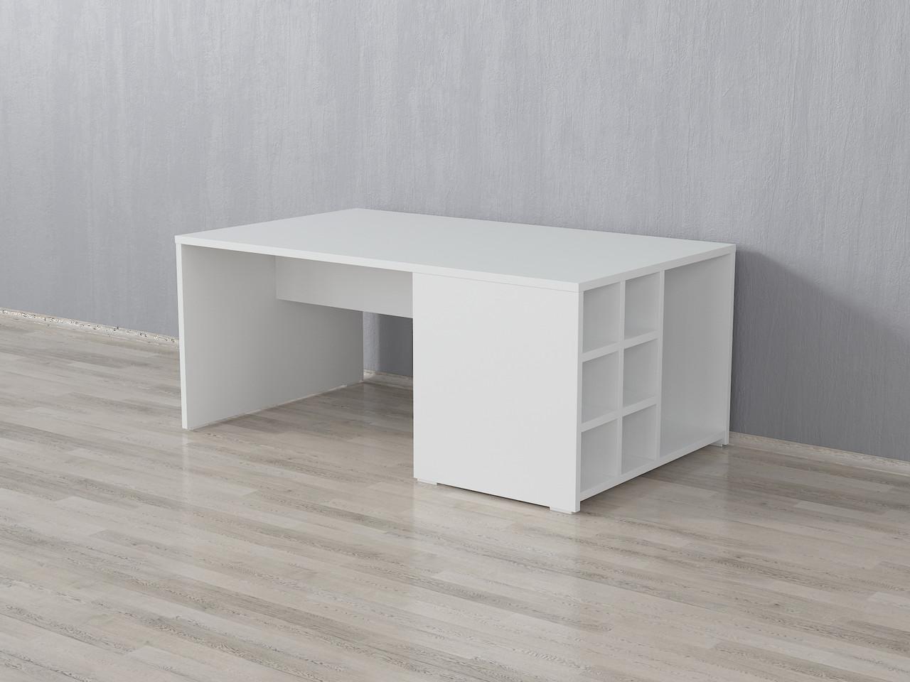 Столик журнальний, кавовий столик з комірками, придиванний стіл з ДСП. КОД: А-121