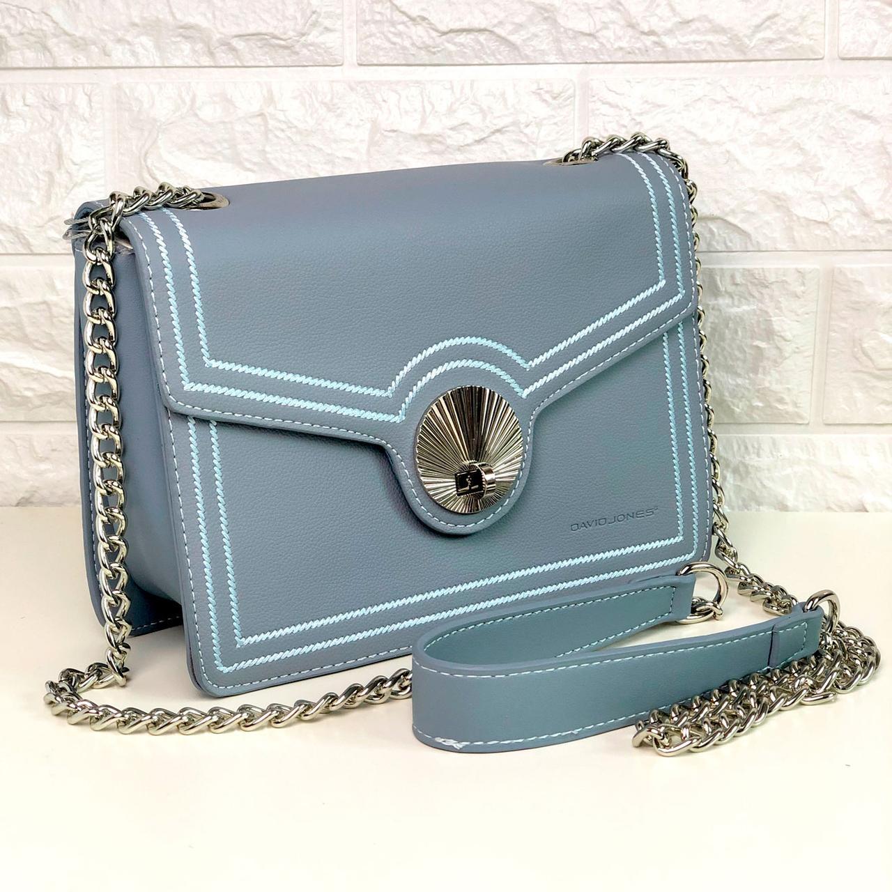 Женская сумка David Jones СM5129 Голубая
