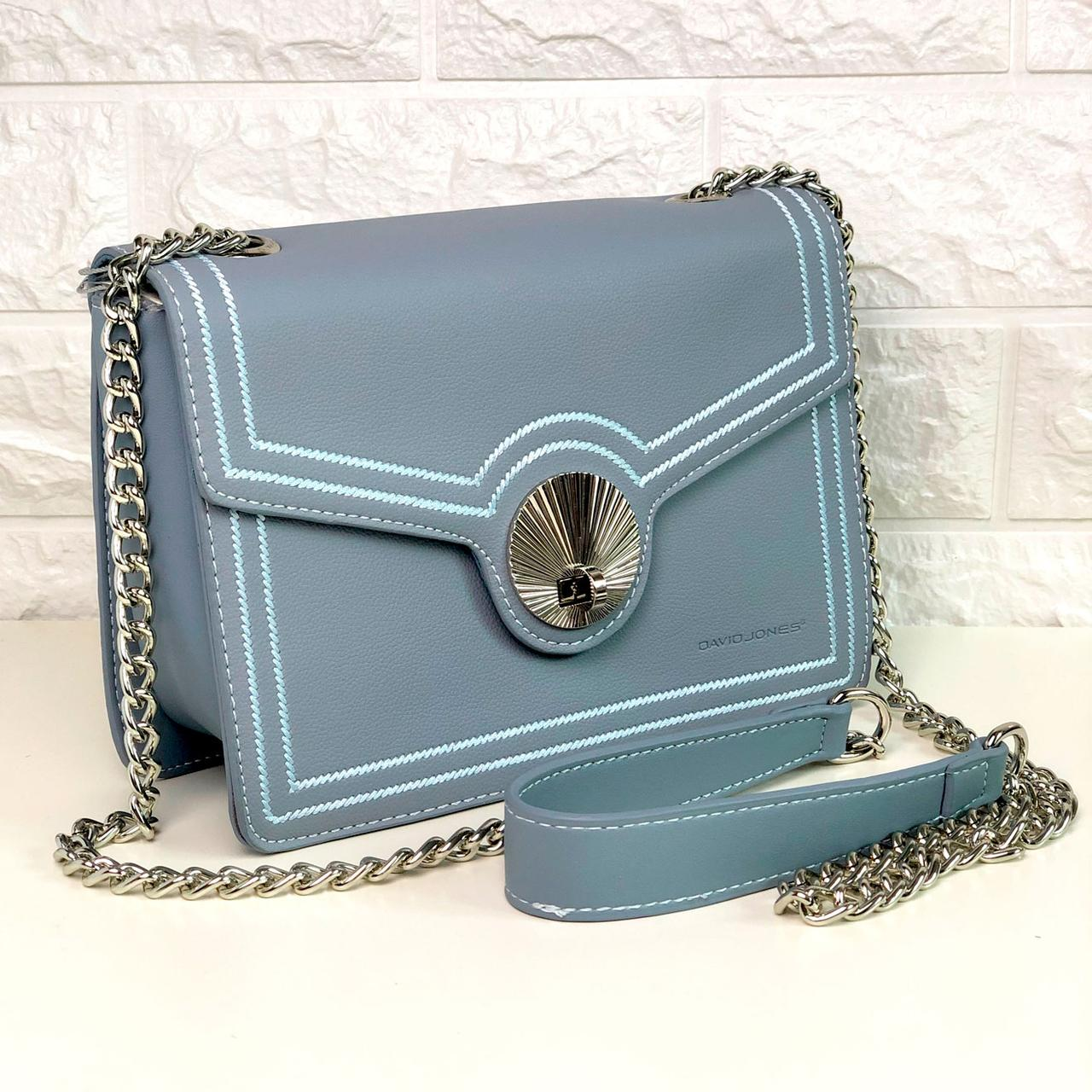 Жіноча сумка David Jones СМ5129 Блакитна