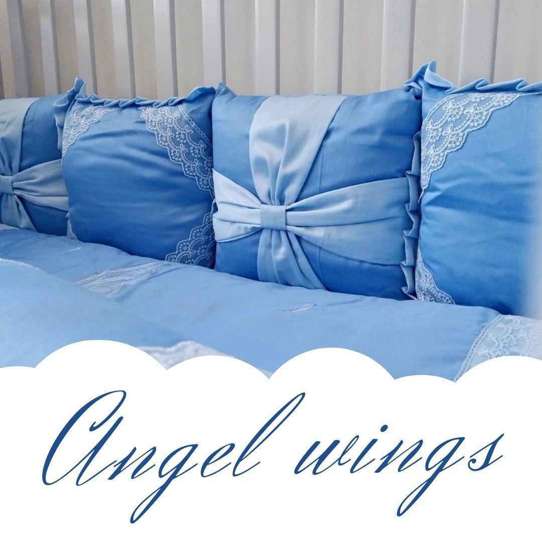 Постельный комплект для новорожденных Veres Angel wings blue