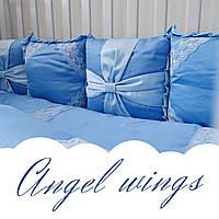 Постельный комплект для новорожденных Veres Angel wings blue, фото 1