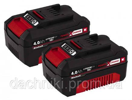 Аккумулятор Einhell Power-X-Change Twinpack 4.0 Ah 18V, фото 2