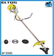 Бензокоса Eltos БГ-5500 (3 ножа+ 1 шпуля с леской), фото 1