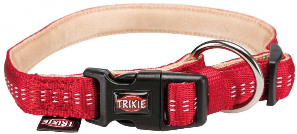 Ошейник для собак trixie Softline Elegance двойной нейлон красный/бежевый