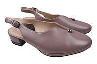 Туфли женские летние Geronea из натуральной кожы,цвет капучино