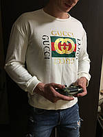 Мужской белый осенний свитшот кофта Gucci Гуччи