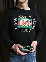 Мужской черный осенний свитшот кофта Gucci Гуччи