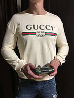 Мужской бежевый осенний свитшот кофта Gucci Гуччи