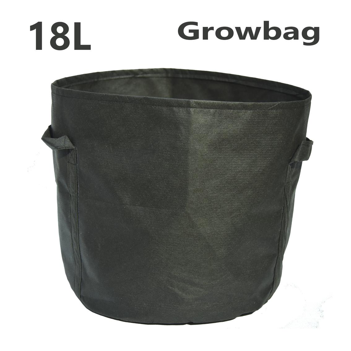 Тканинний горщик Grow Bag круглий 18л
