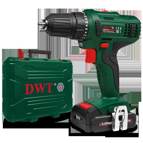 Аккумуляторный шуруповерт DWT ABS-14 L-2 BMC  / 3 года гарантия