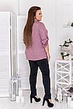 Стильный комфортный костюм блуза + брюки из трикотажа дайвинг, р.48-50,52-54,56-58,60-62,64-66 код 3332Ф, фото 10