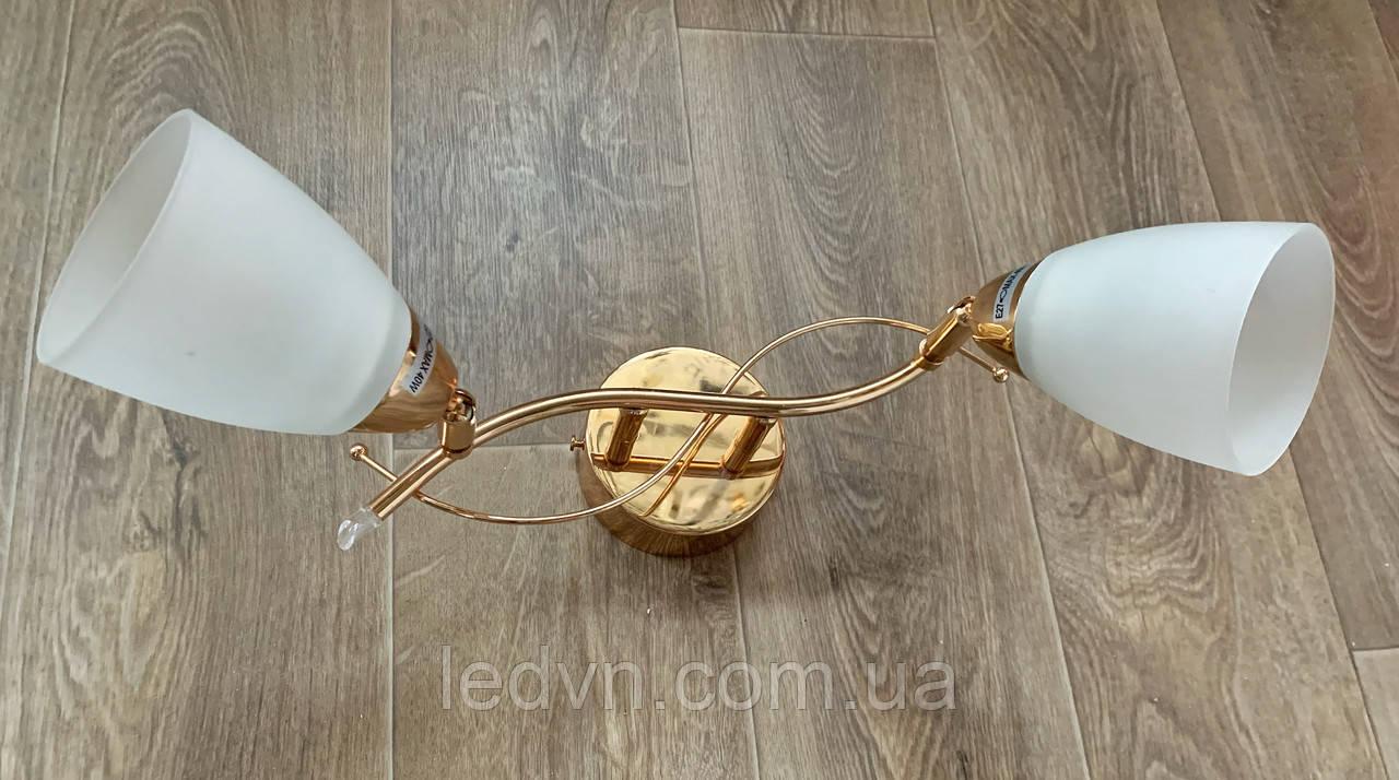 Потолочная люстра с поворотными плафонами два плафона