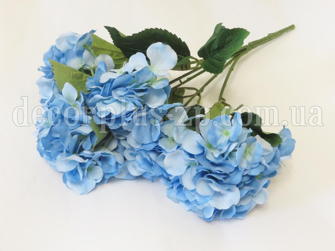 Букет гортензии 45см (5 веток), голубой