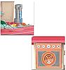 Детская игровая интерактивная кухня Bozhi Toys с водой и холодным паром розовая, фото 3