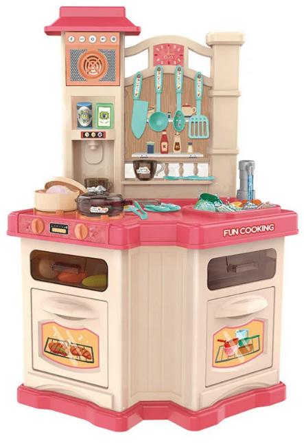 Детская игровая интерактивная кухня Bozhi Toys с водой и холодным паром розовая