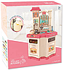Детская игровая интерактивная кухня Bozhi Toys с водой и холодным паром розовая, фото 4
