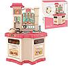 Детская игровая интерактивная кухня Bozhi Toys с водой и холодным паром розовая, фото 5