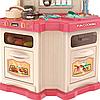 Детская игровая интерактивная кухня Bozhi Toys с водой и холодным паром розовая, фото 6