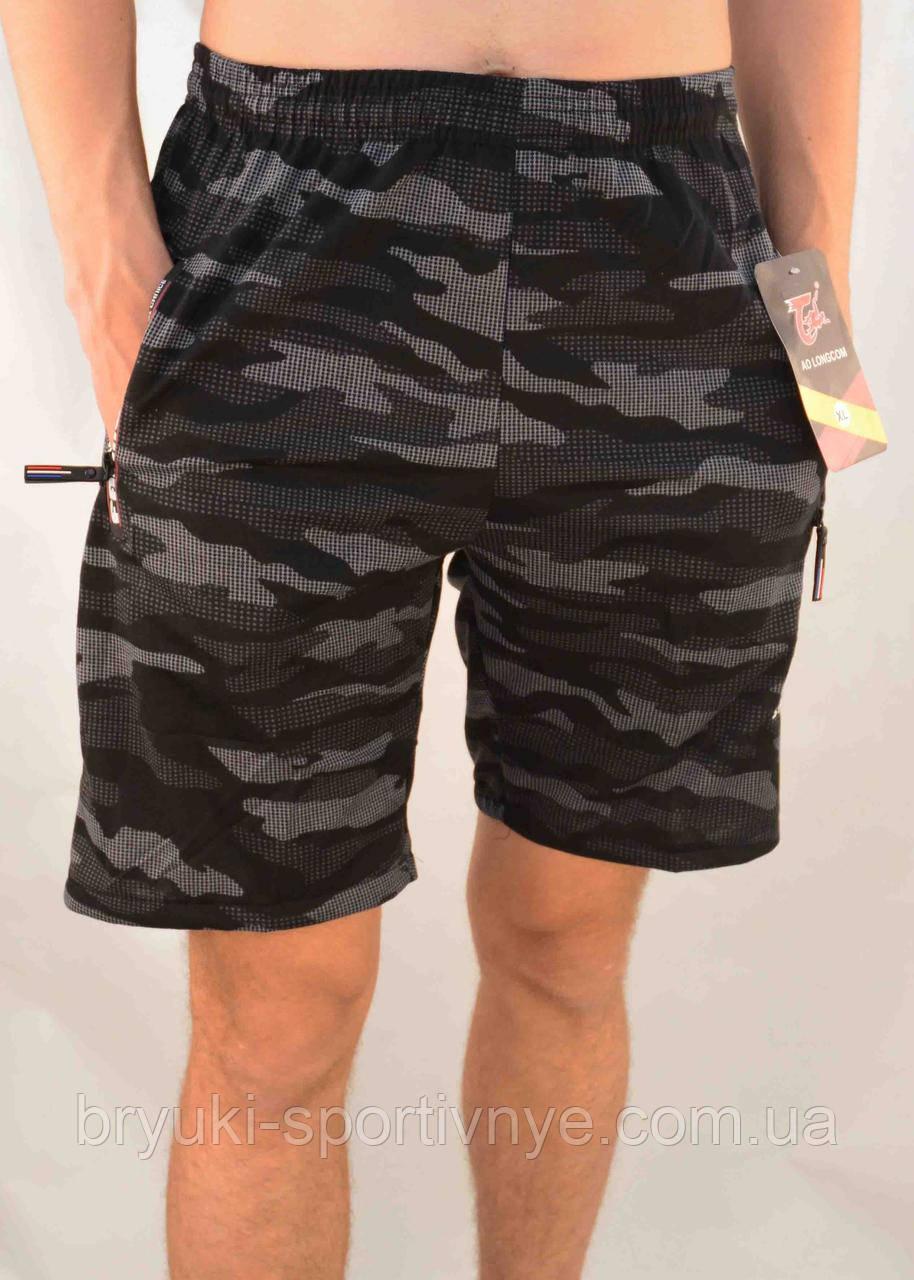 Шорты мужские камуфляжные с молниями на карманах XL - 5XL Бриджи камуфляж Ao longcom