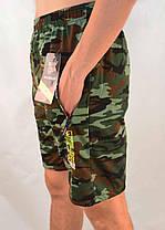 Шорты мужские камуфляжные с молниями на карманах XL - 5XL Бриджи камуфляж Ao longcom, фото 2