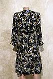 Модное женское летнее платье в растительных узорах с поясом. Жіноче плаття в рослинних узорах., фото 5