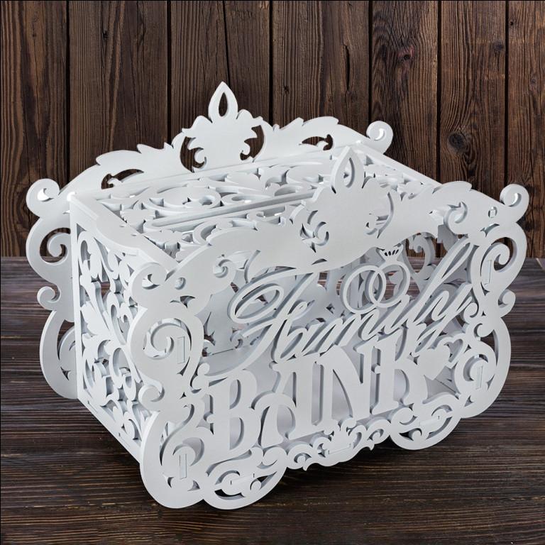 "Свадебный деревянный сундук""Family BANK"" 40,2х24,2х16,6 см, арт. SD-00125"