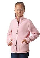 Детская кофта флисовая (размеры 122-158 в расцветках) розовый, 152