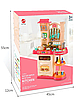 Детская игровая интерактивная кухня Bozhi Toys Fun Cooking с водой и холодным паром розовая, фото 2