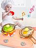 Детская игровая интерактивная кухня Bozhi Toys Fun Cooking с водой и холодным паром розовая, фото 4