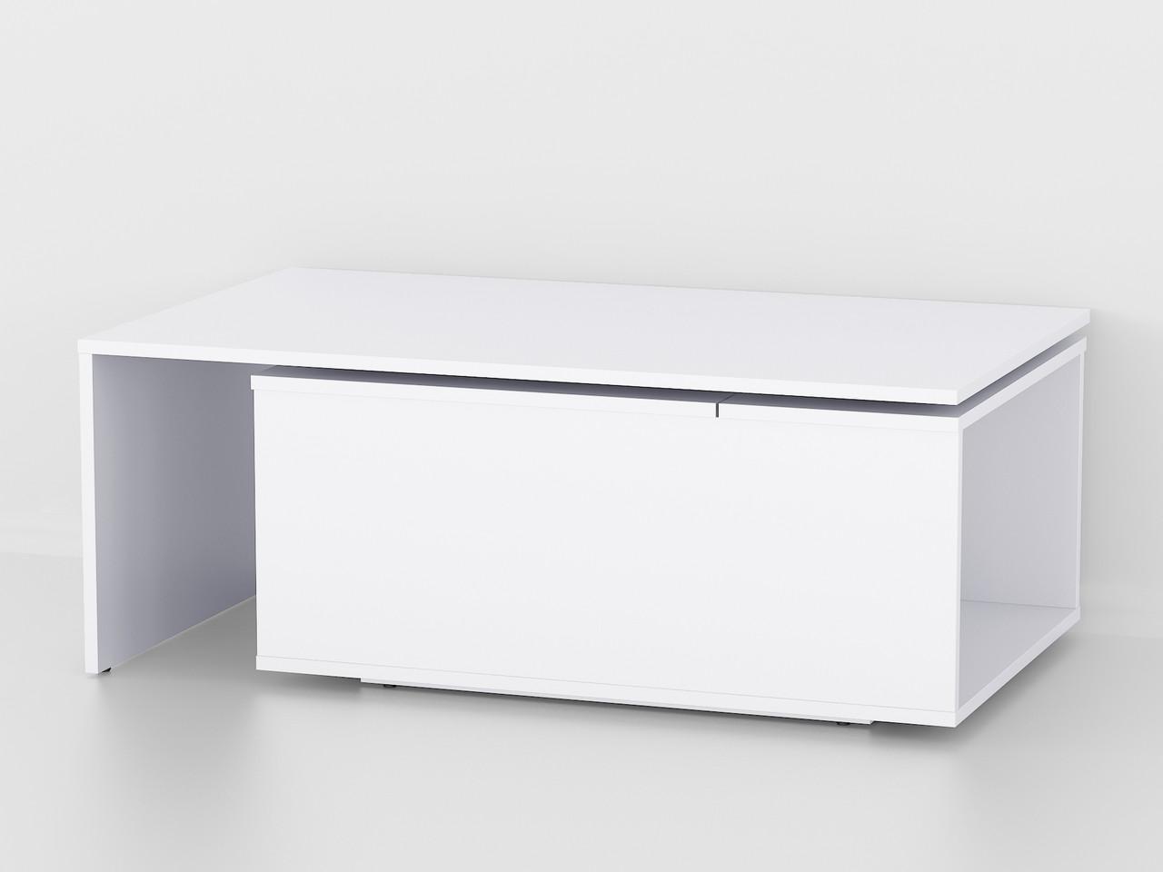 Кавовий Столик журнальний столик з ящиком і поворотним механізмом з ДСП. КОД: А-47