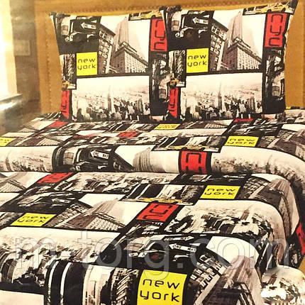 """""""Нью-Йорк"""" Комплект постельного белья полуторный 145*215 см 100% хлопок Tirоtex Тирасполь, фото 2"""