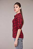 Классная рубашка в клеточку, размер от 42 до 54, фото 2