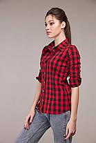 Классная рубашка в клеточку, размер от 42 до 54, фото 3