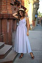 Однотонный сарафан с красивой спинкой, размер от 42 до 48, фото 2