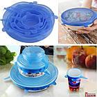 """Набор силиконовых крышек для посуды """"Silicon lids"""", 6шт., фото 3"""