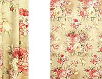 Портьерная ткань для штор Блэкаут с цветочным рисунком (Interio ERT WBK3909-2/280 BLPech)