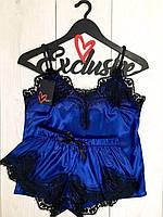 Романтичний жіночий комплект майка з шортами, фото 1