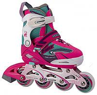 Детские раздвижные ролики, роликовые коньки  Maraton C-MAX розовый