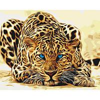 Картина по номерам на холсте Дикая кошка (КНО2450) 40х50 ТМ Идейка