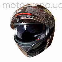 Шлем трансформер глянец чёрный